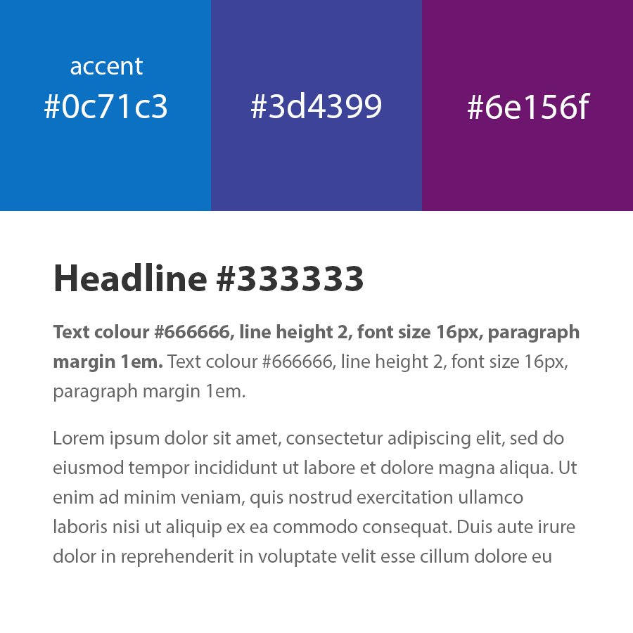 Typography and colours