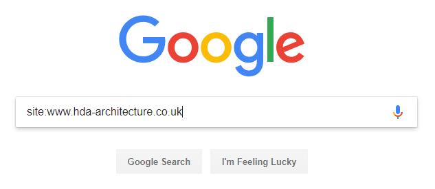 Google search operator example