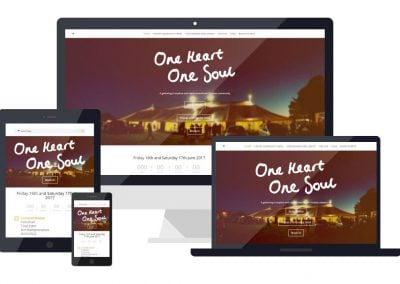 One Heart One Soul – Event Website