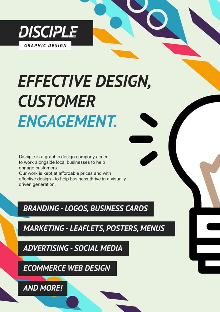 Graphic design leaflet