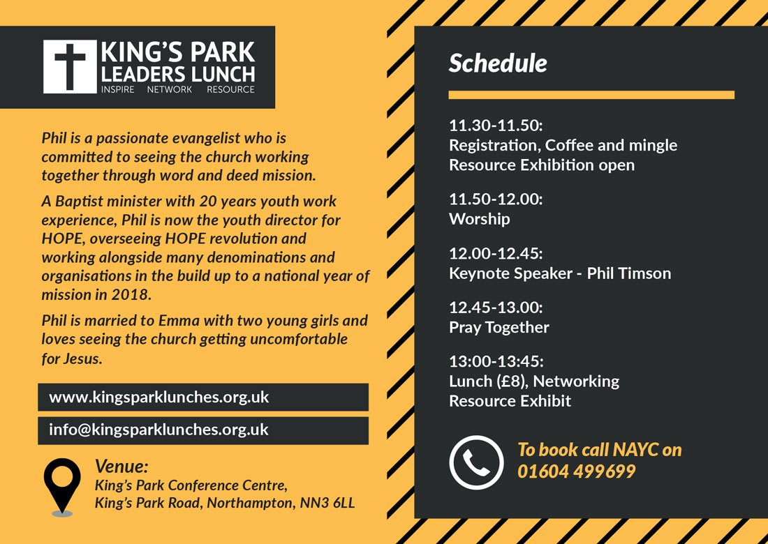King's park leaflet