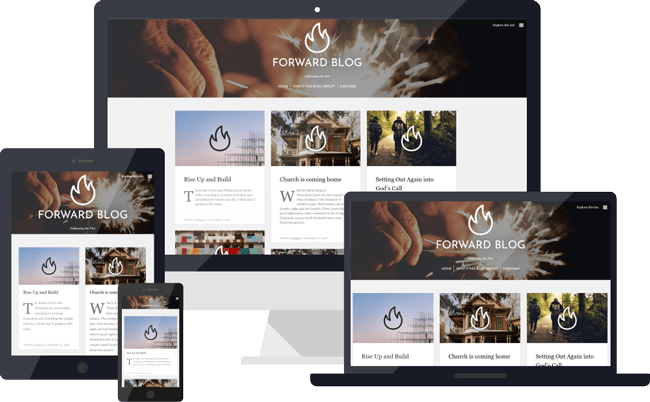 Forward blog website mockups