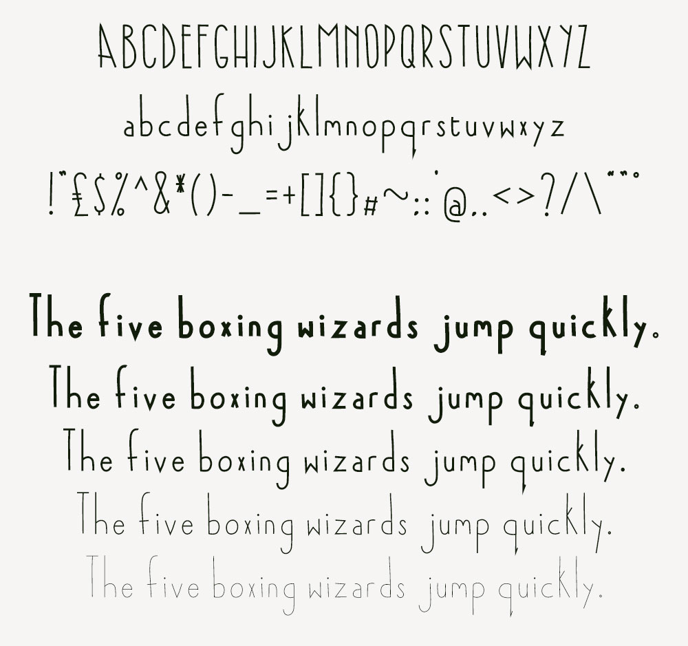 Good Nook font examples