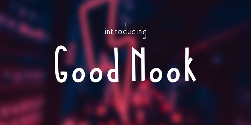 Good Nook font splash