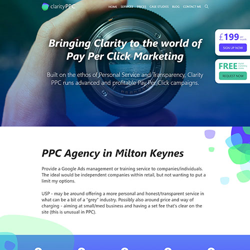 Clarity PPC website