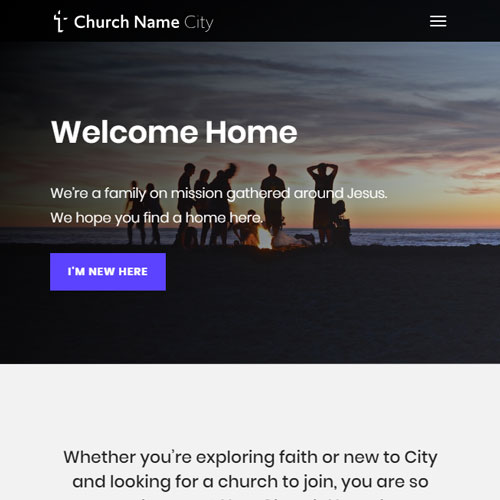 Demo church website
