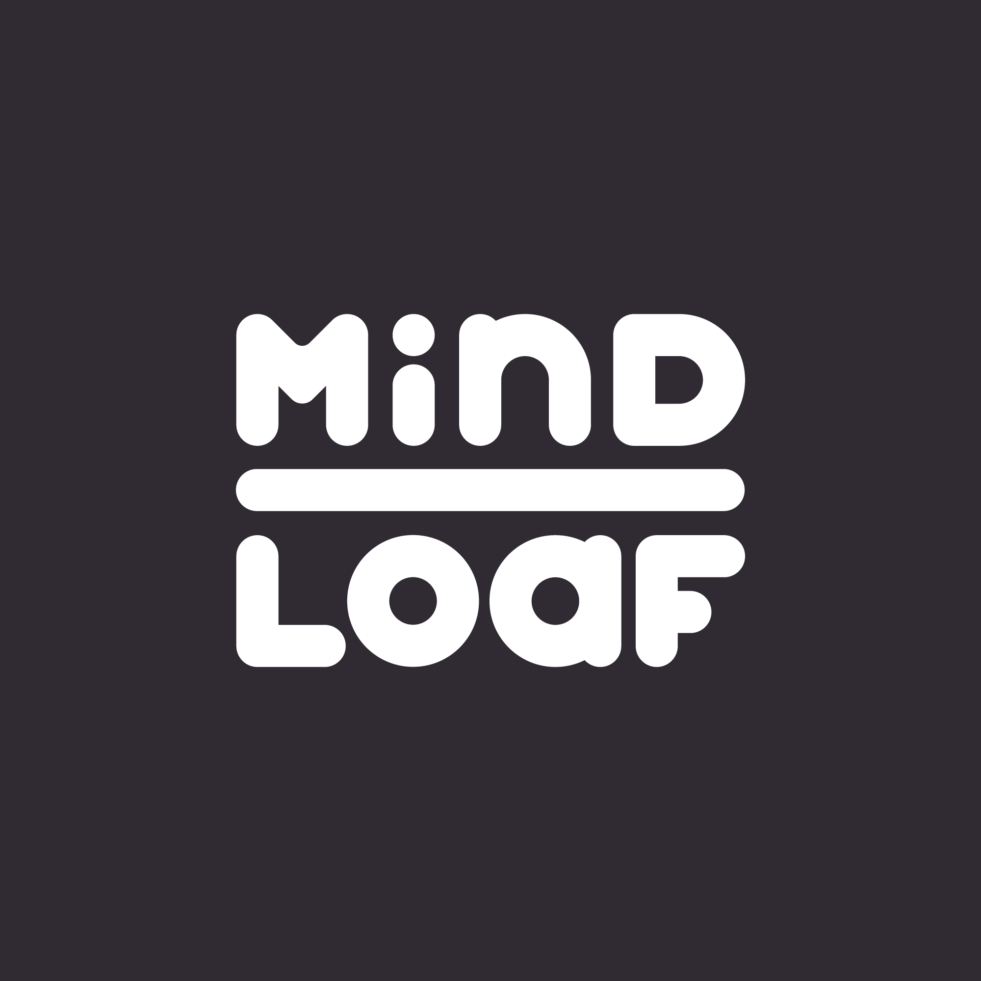 MindLoaf logo black