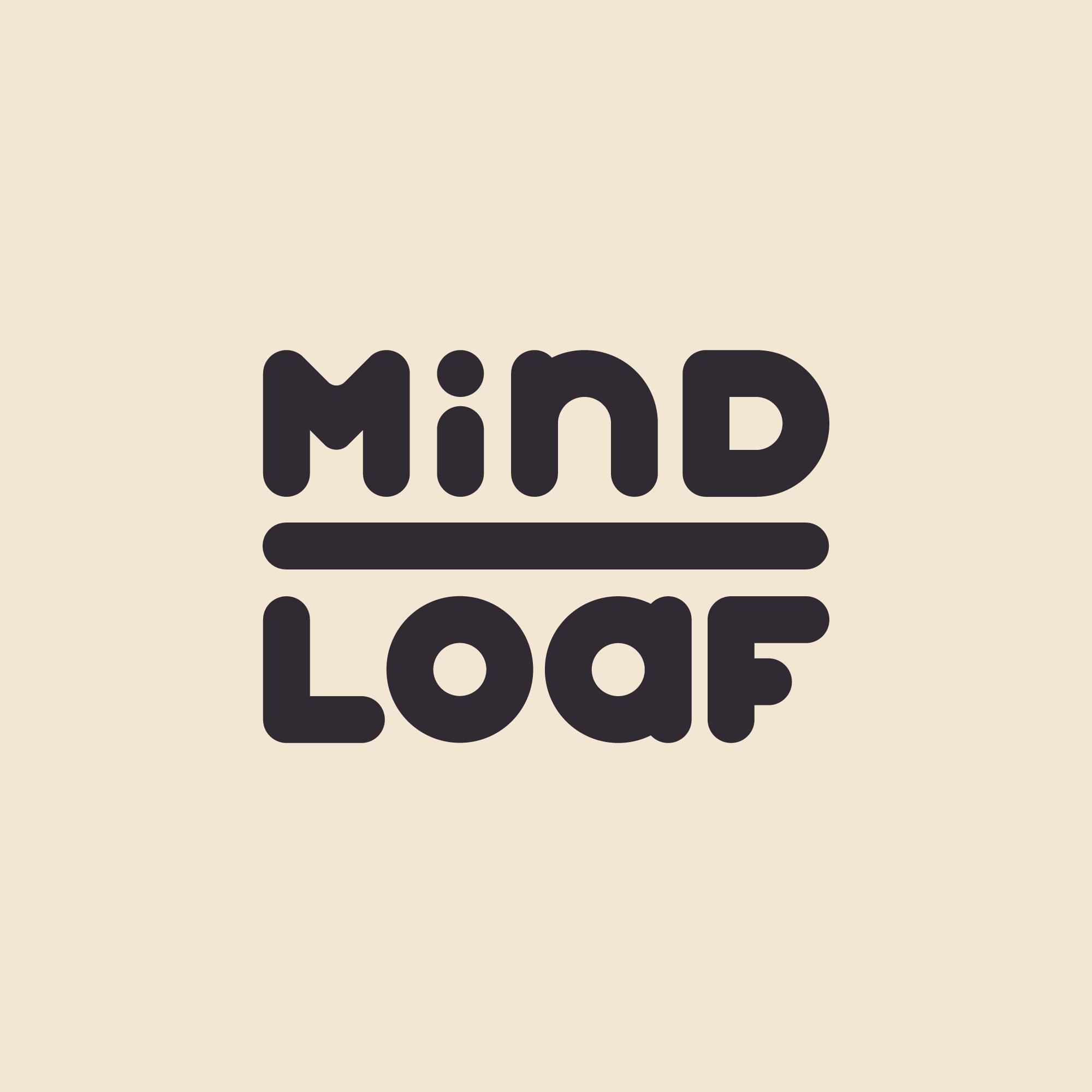 MindLoaf logo tan