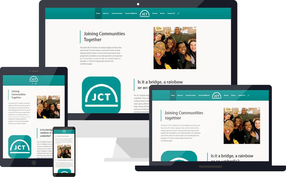 JCT website device visualisation