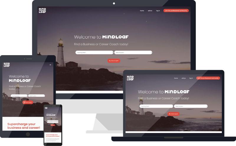 MindLoaf website device visualisation
