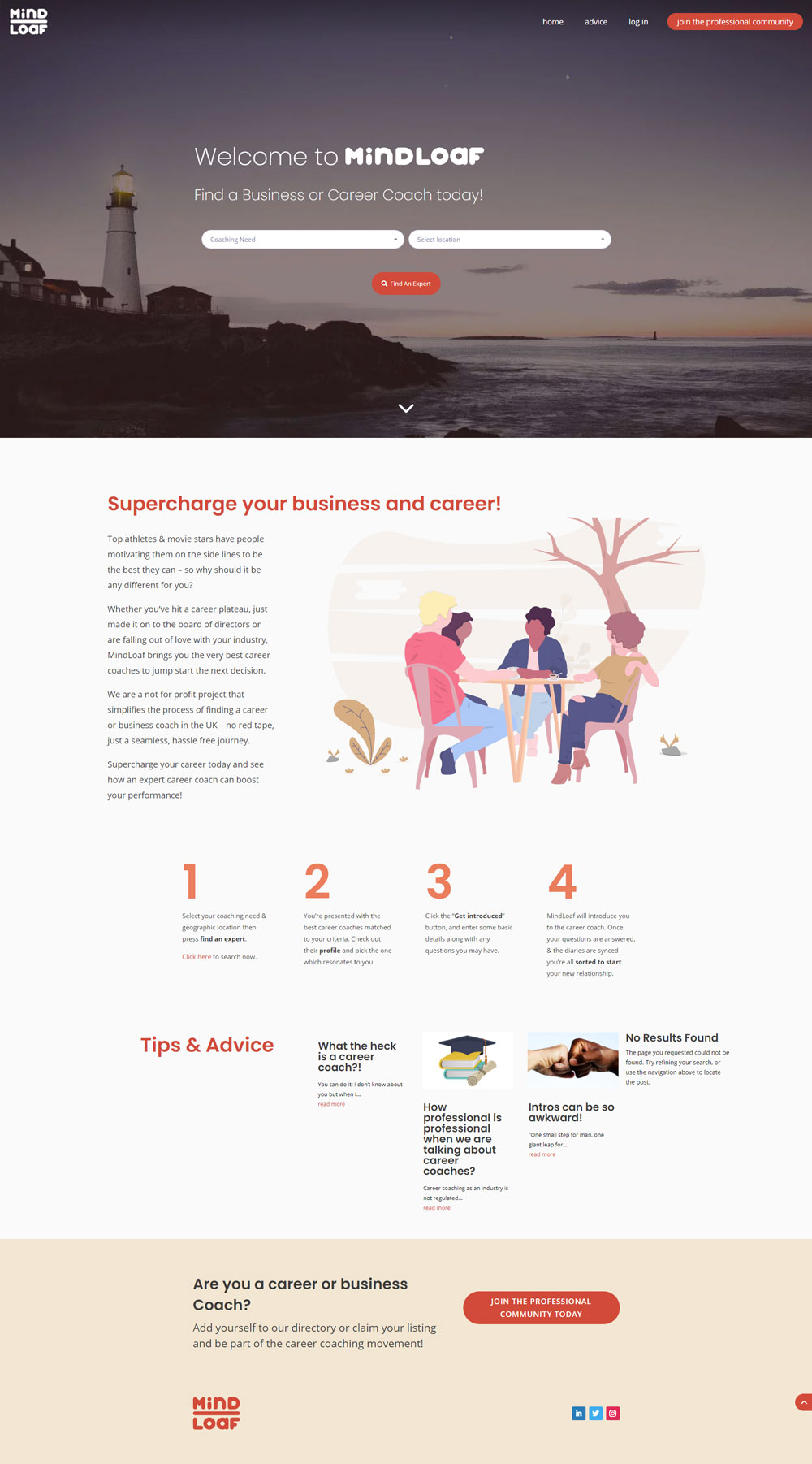 MindLoaf homepage