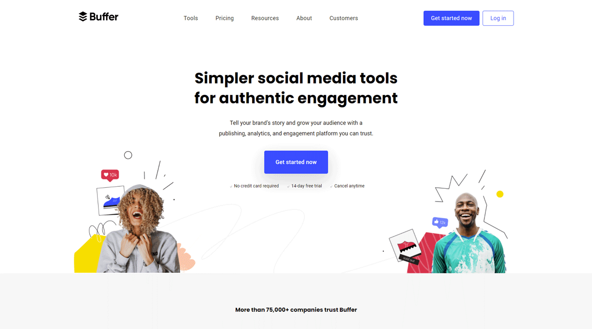 Buffer website design